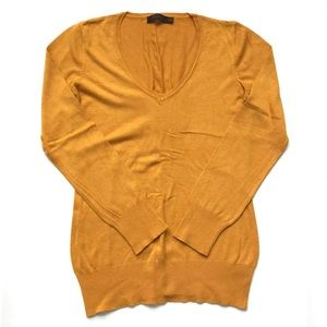 The Limited Mustard Yellow V-Neck Sweater, Sz M
